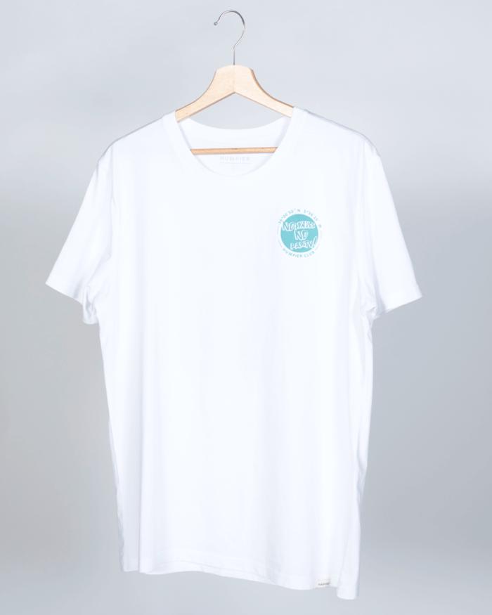 Camiseta de manga corta blanca modelo Mr Humpier Duck, por delante