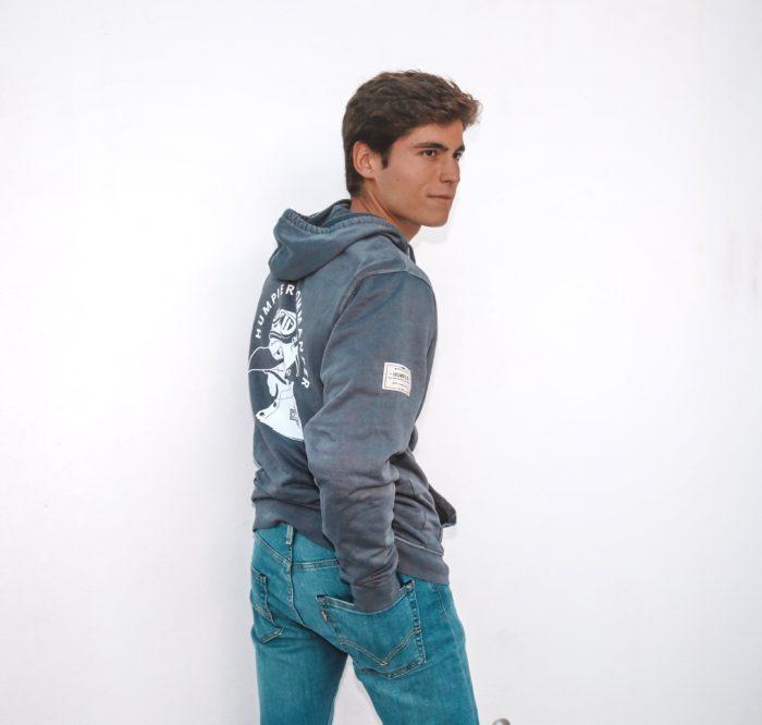 Sudadera azul con capucha y bolsillos tipo canguro Humpier Commander