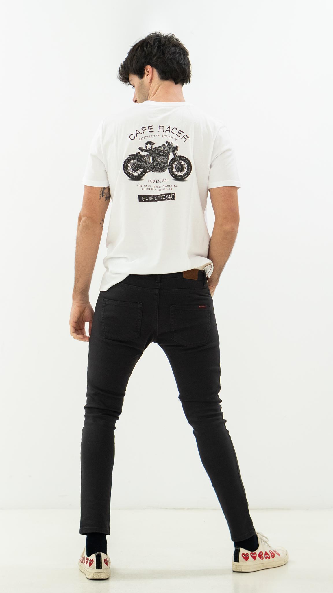 Camiseta Cafe Racer Blanca | Humpier | Edición limitada