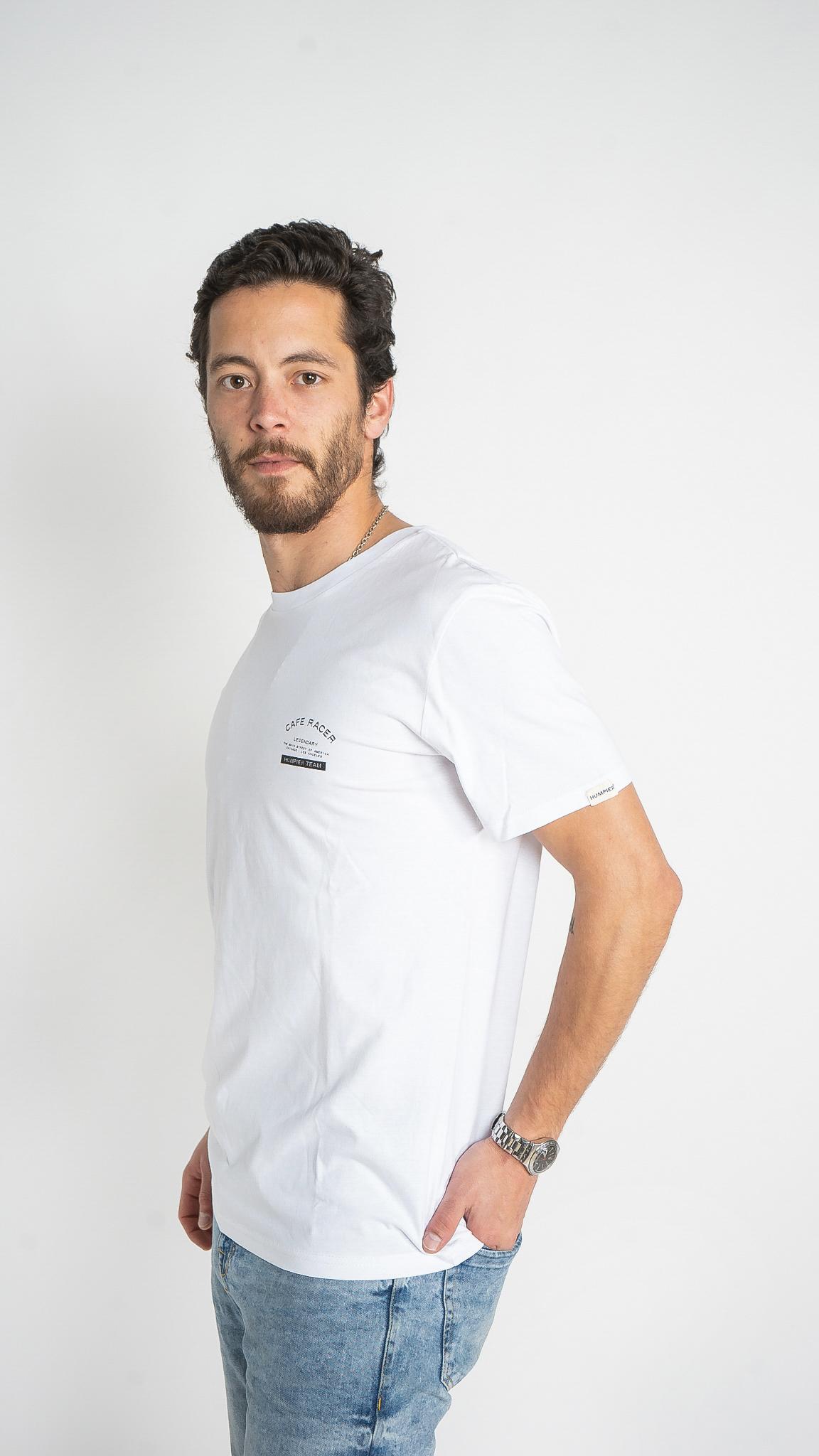 Camiseta Cafe Racer Blanca   Humpier   Edición limitada