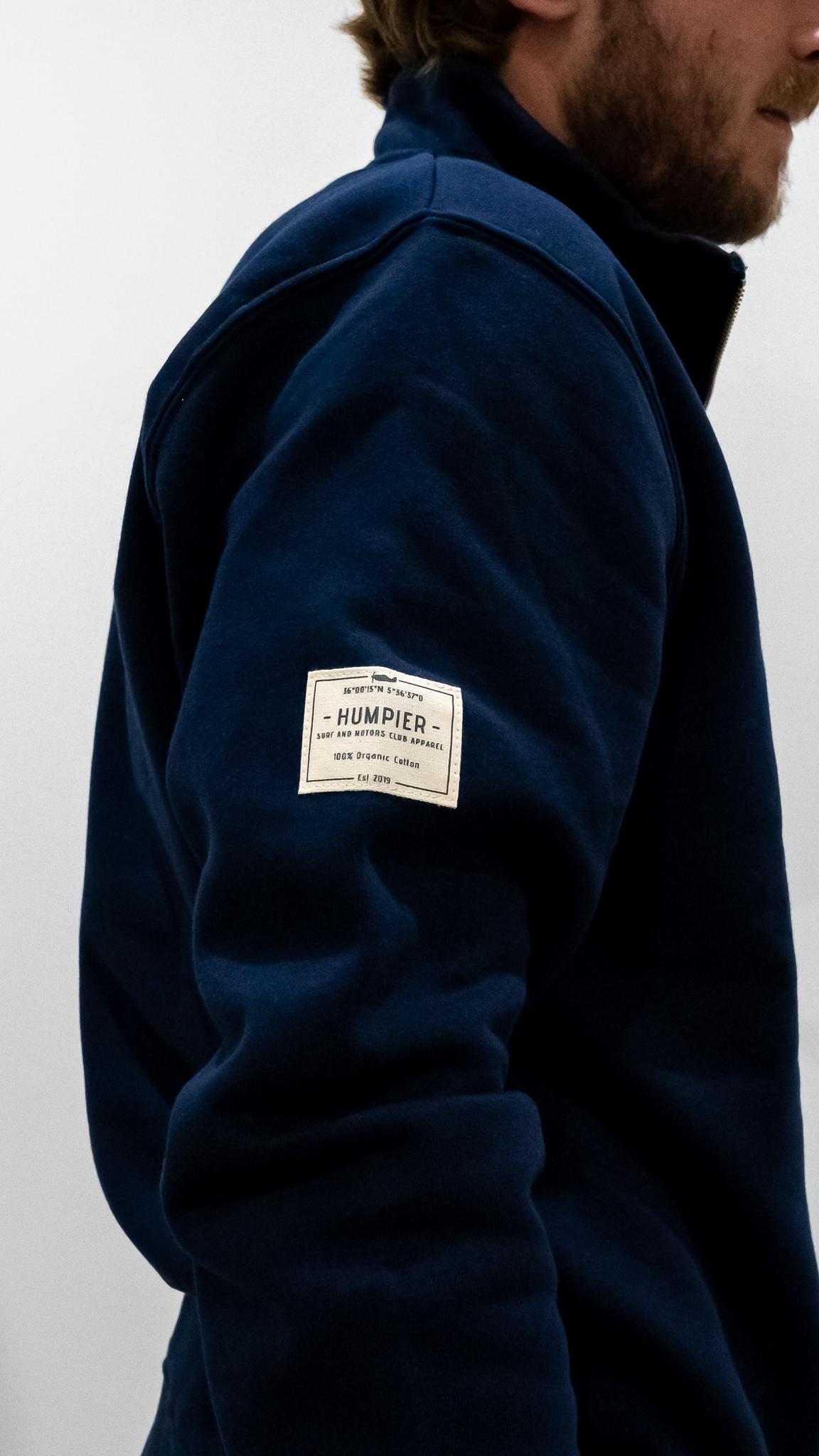 Jersey Cremallera Azul   Humpier