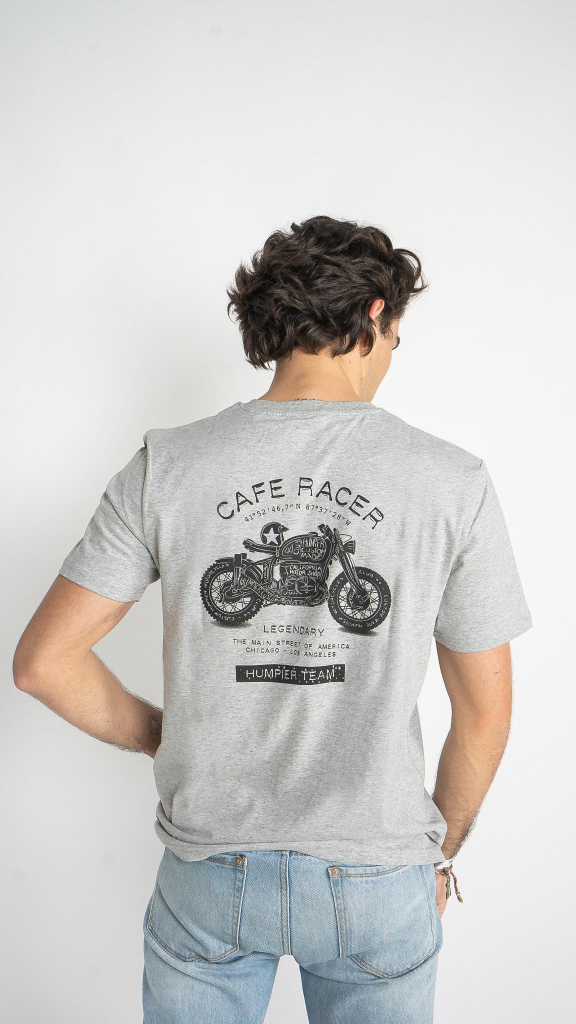 Camiseta Cafe Racer Gris | Humpier | Edición limitada